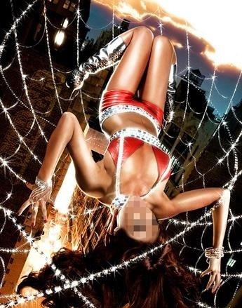 Шаблон для фотошопа - Девушка в паутине