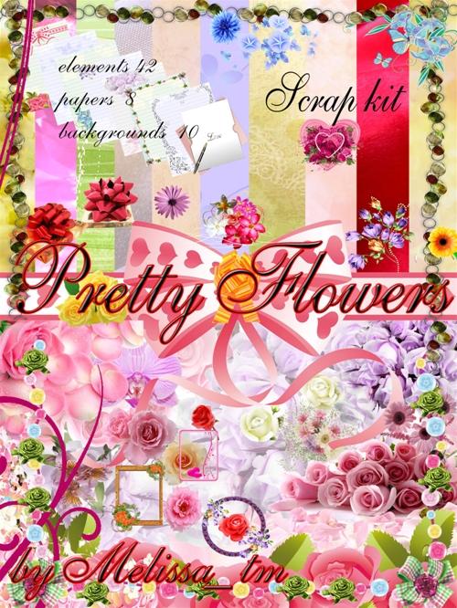 Скрап-Набор Pretty Flowers