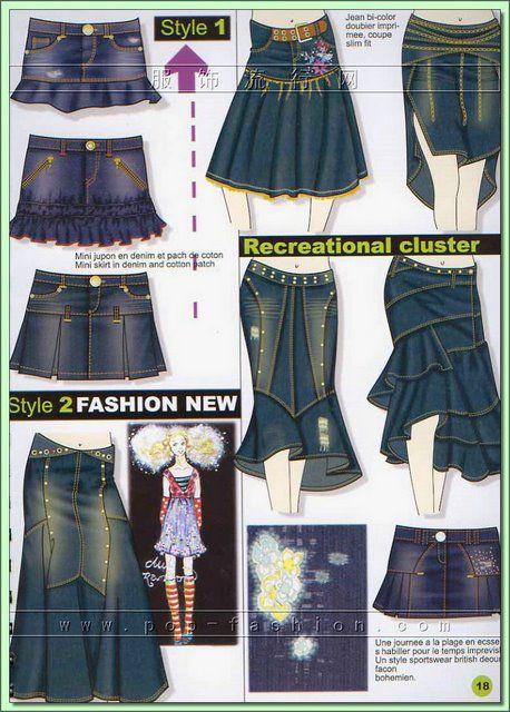 Сшить юбку из старых джинсов своими руками со схемами