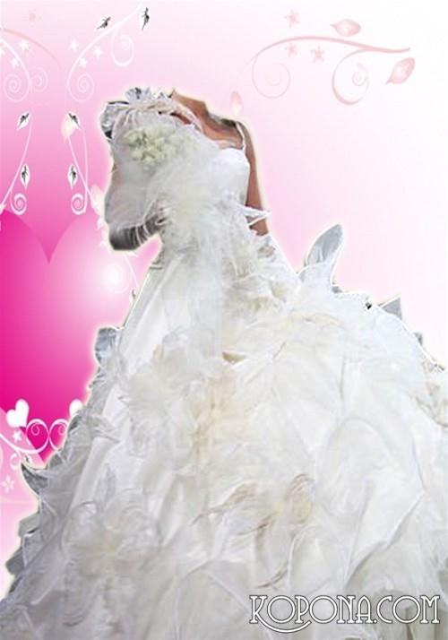 женский шаблон-в свадебном платье
