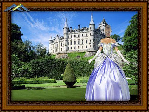 Женский шаблон для фотомонтажа Принцесса