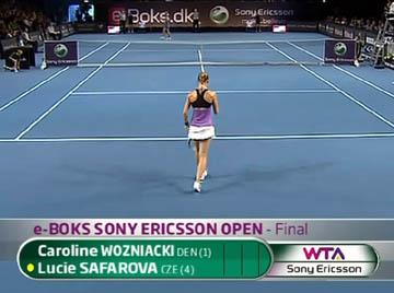 Copenhagen 2011 / Финал / Каролин Возняцки - Люси Шафарова / Caroline Wozniacki - Lucie Safarova / TennisTV [12.06.2011, HD, 720p, RU, EN, SAT]