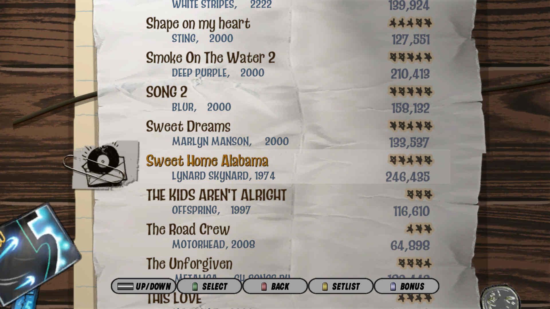 Guitar hero 3 песни
