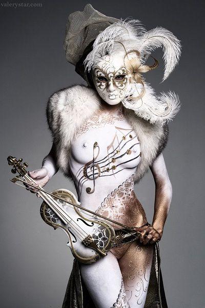 Работы VALERY STAR . Body Art