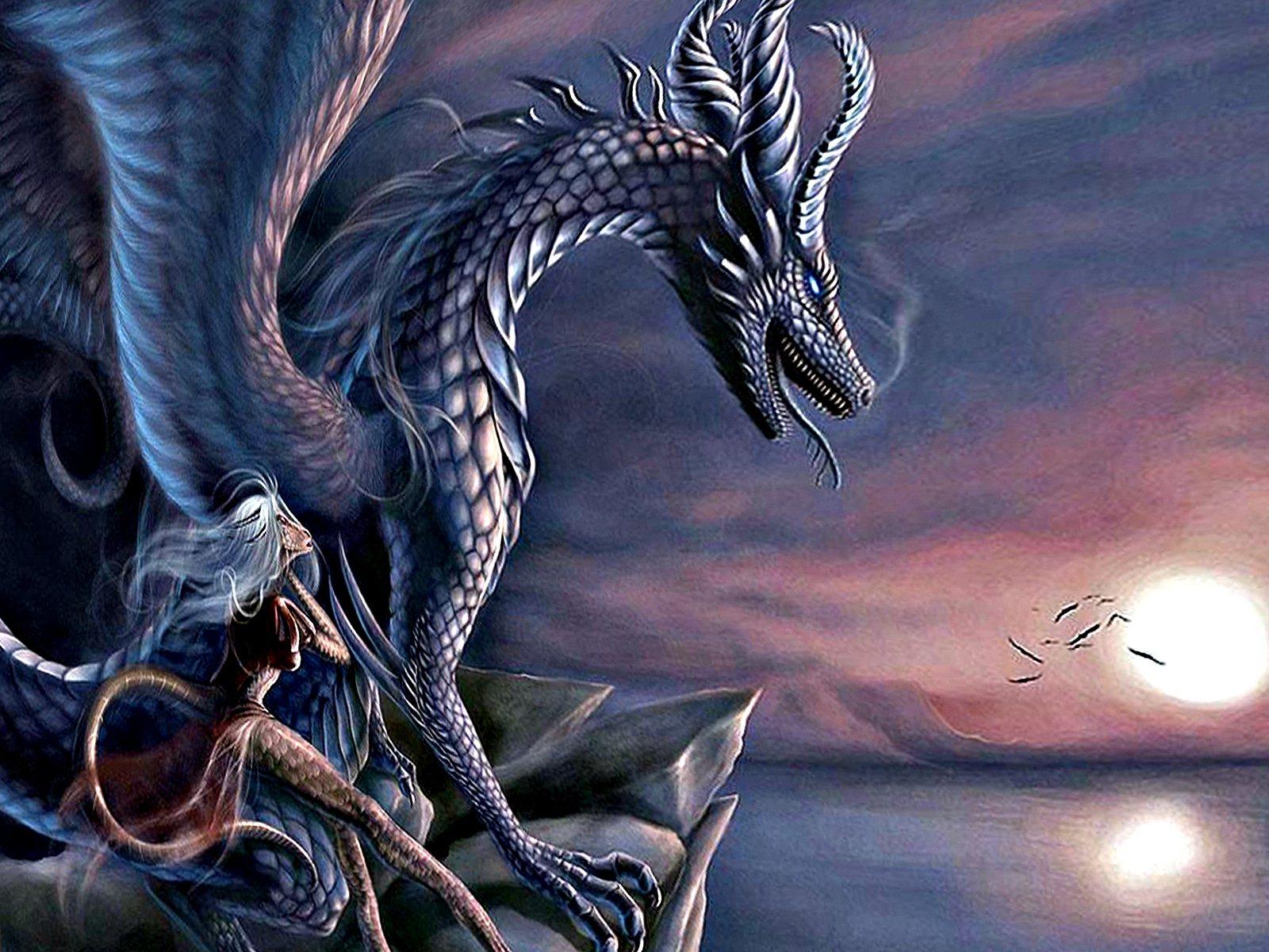 Открытки с рисунком дракона