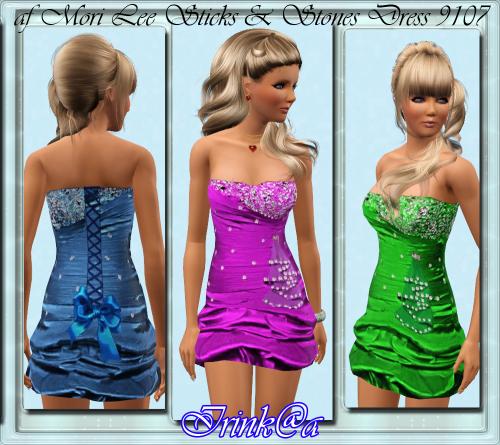 Вечернее платье для Sims 3