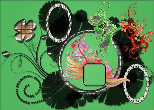 Ornamentals Frames + Ornate roses