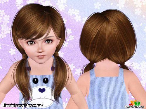 sims 4 прически для малышей