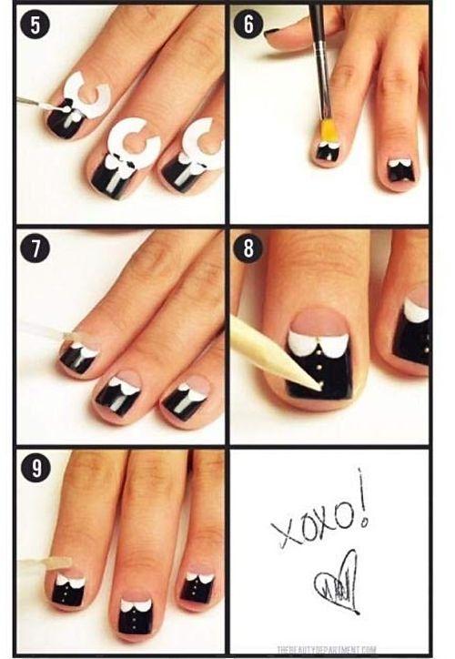 Как сделать полоски на ногтях дома 26