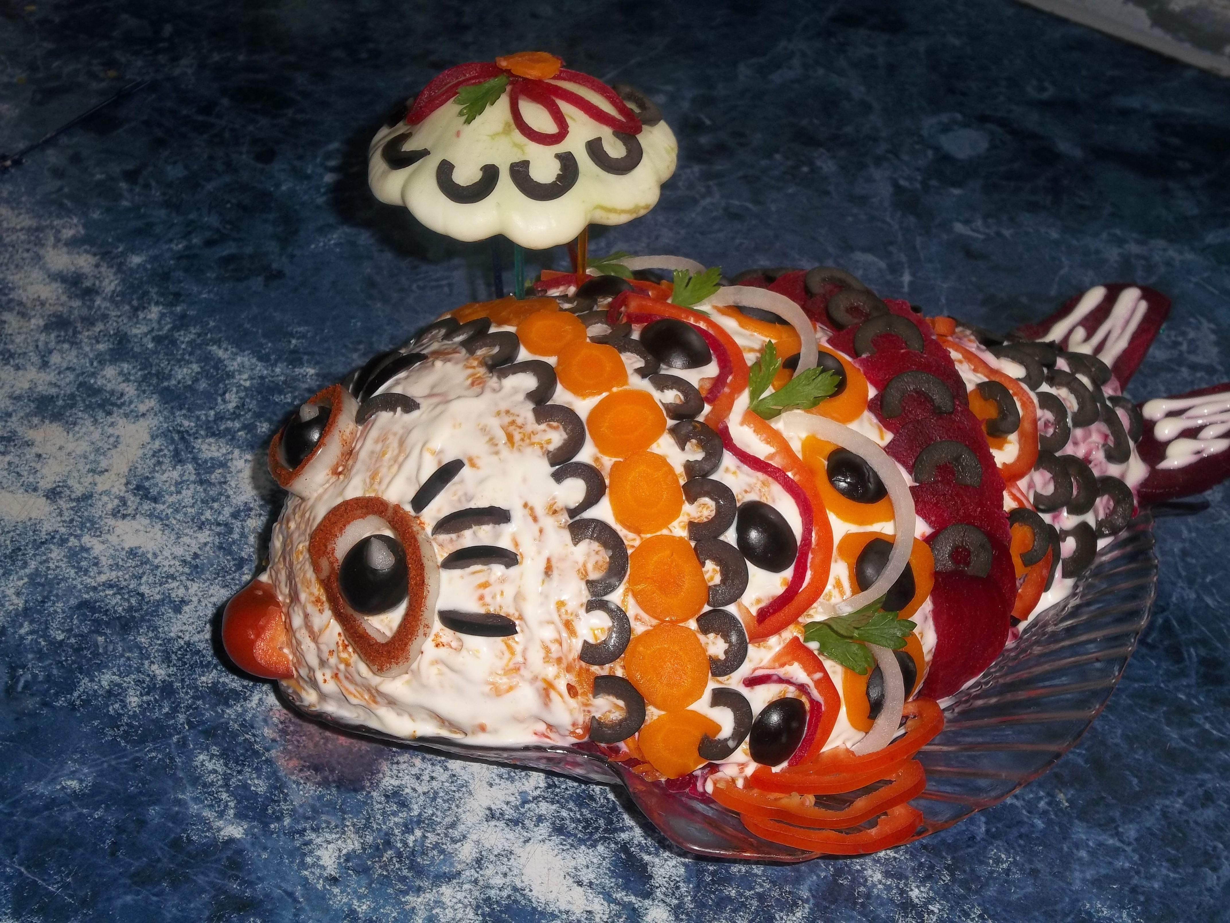 Как сделать рыба в шубе
