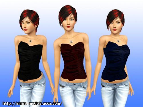 top, симс 3, sims3, женская одежда