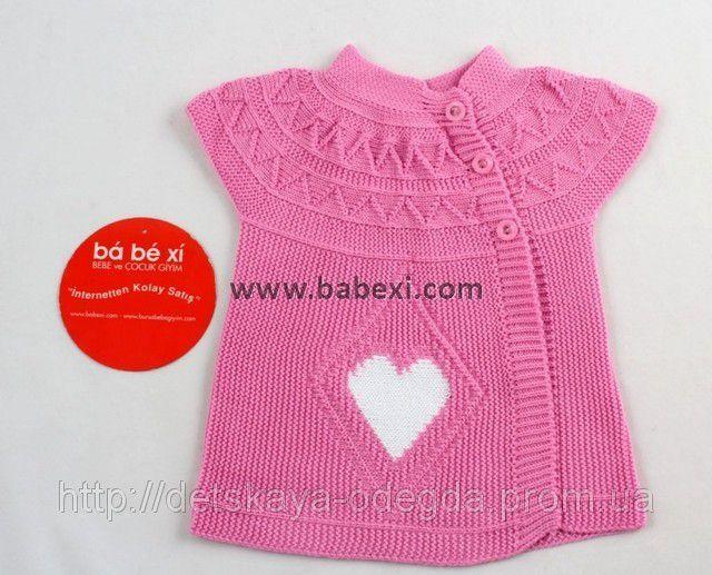 Вязание спицами жилетки для девочки 2-3 года 84