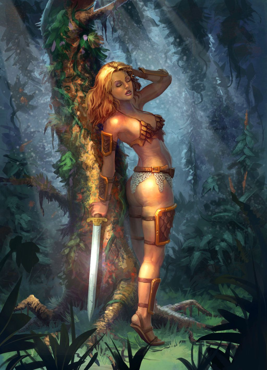Cartoon fantasy images of hot women with  erotic movie