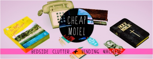Cheap Motel Bedside Clutter & Vending Machine by Modish Kitten