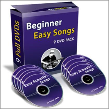 Guitarjamz.com - Beginner Easy Songs 9 DVD Pack