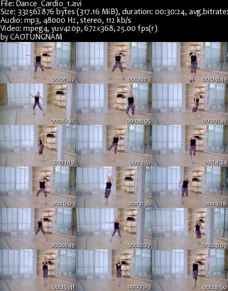 Dance plus Cardio by Tracy Andersons (2013) (DVDRip)