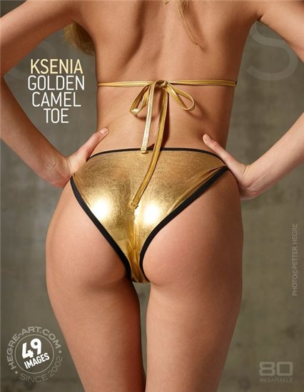 Ksenia - Golden camel toe (2014) [HQ Photoset]