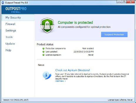 Outpost Firewall Pro 9.1.0.4643.690.1951 Multilingual (x86x64)
