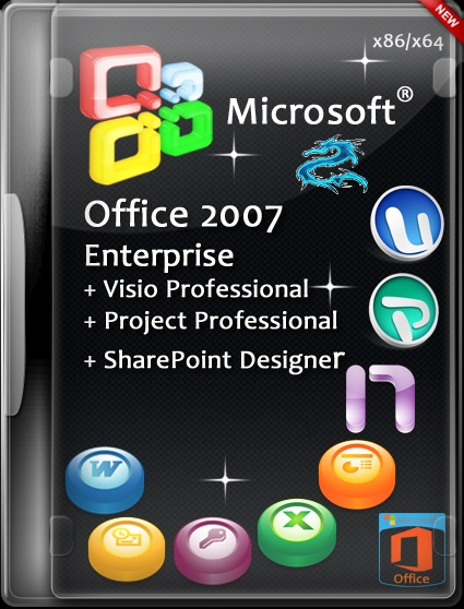 Microsoft Office 2007 Enterprise + Visio Premium + Project Pro + SharePoint Designer SP3 12.0.6743.5000 RePack by SPecialiST v16.7 [Ru]