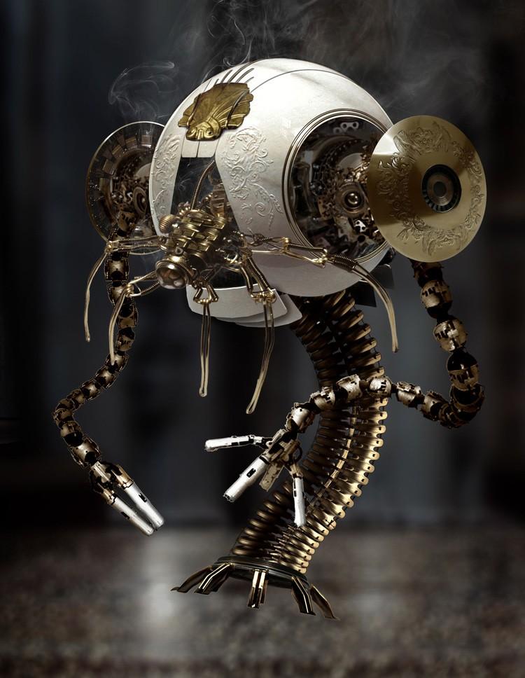 Робот в стиле стим-панк