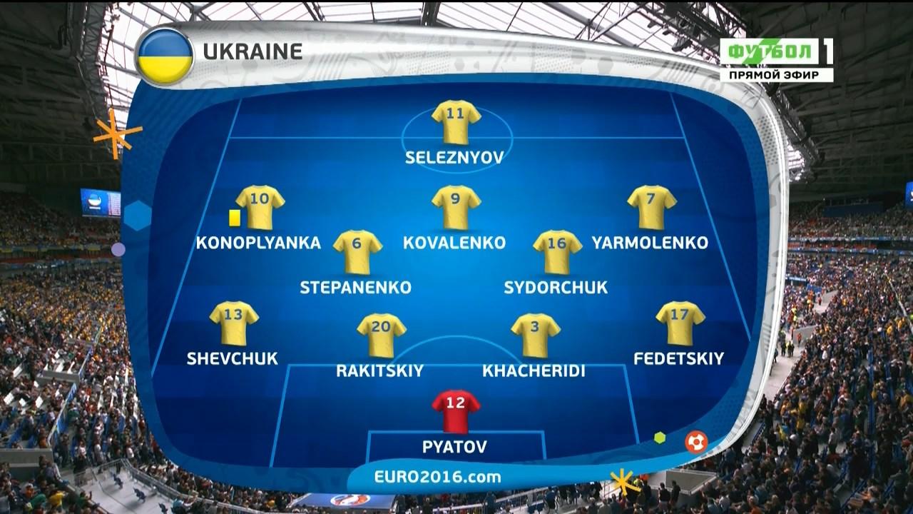 Футбол. Чемпионат Европы 2016 (Группа С. 2 тур) Украина - Северная Ирландия (2016) HDTVRip 720p