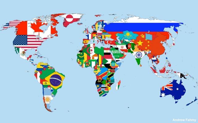 """Как выглядят """"Карты Мира"""" в разных странах"""