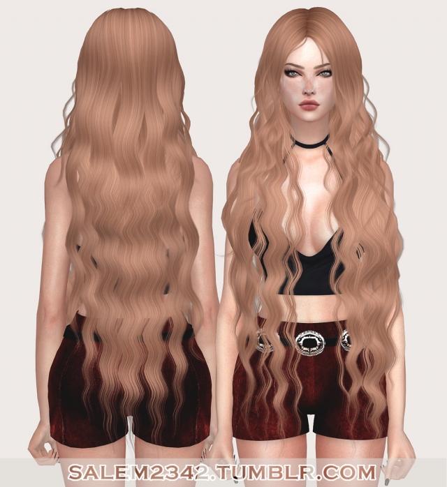 Длинные волосы симс 4