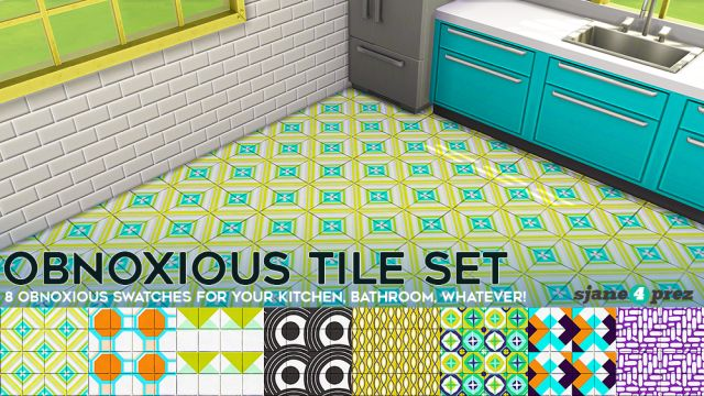 Setting tiles on floor