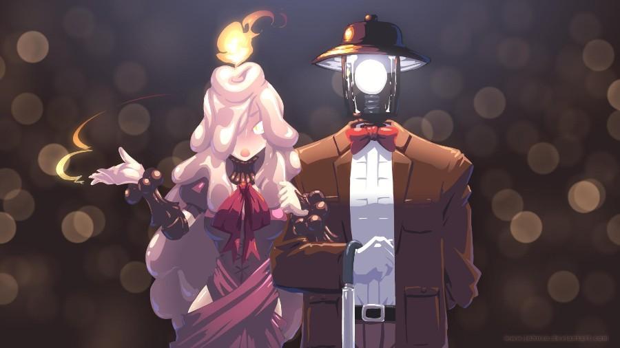 Свеча и фонарь