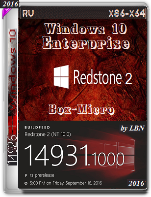 Windows 10 Enterprise 14931 rs2 BOX-MICRO by Lopatkin (x86-x64) (2016) Rus