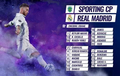 """Заявка """"Мадрида"""" на игру против лиссабонского """"Спортинга"""""""