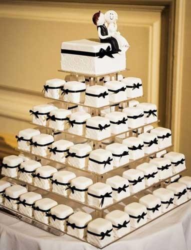 Свадебные торты из пирожных фото