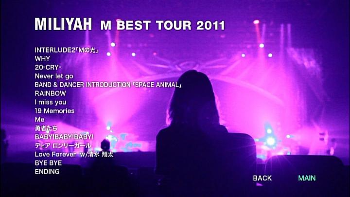 20161207.02.05 Miliyah Kato - M BEST Tour 2011 (DVD9) (JPOP.ru) menu 3.jpg