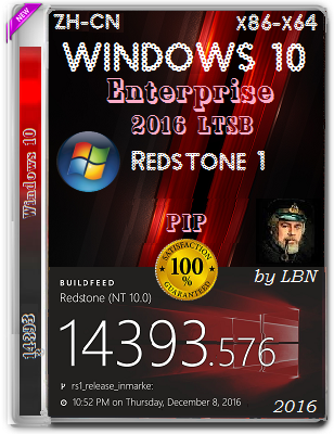 Microsoft Windows 10 Enterprise 2016 LTSB 14393.576 x86-x64 ZH-CN PIP by lopatkin