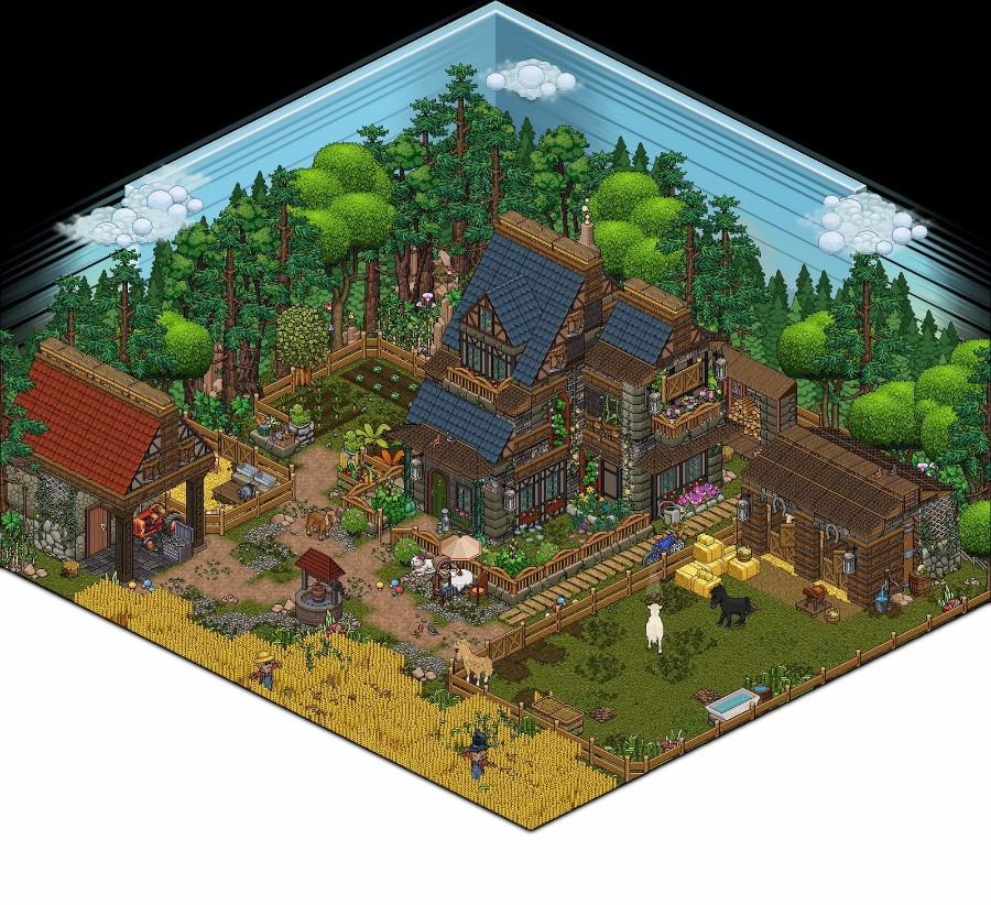 Сельский пиксель арт