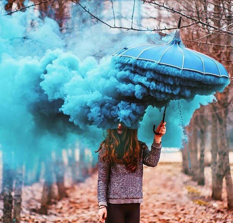 Голубой дым