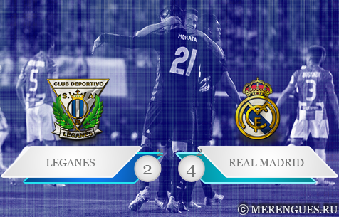 CD Leganés - Real Madrid C.F. 2:4