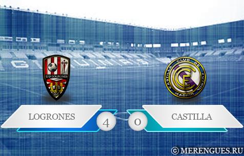 UD Logrones - Real Madrid Castilla 4:0