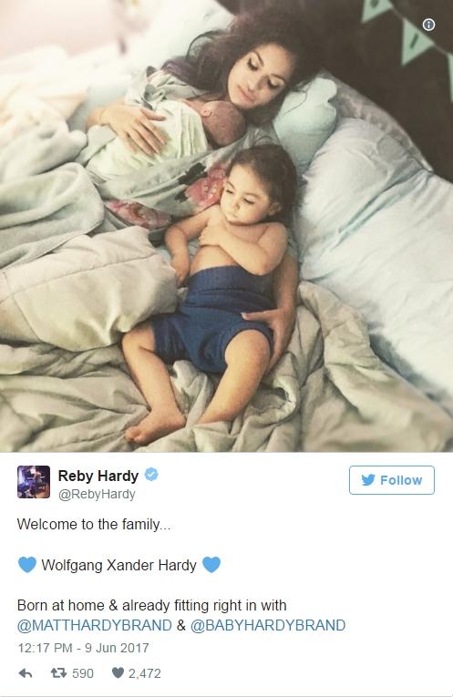 В семействе Харди прибавление