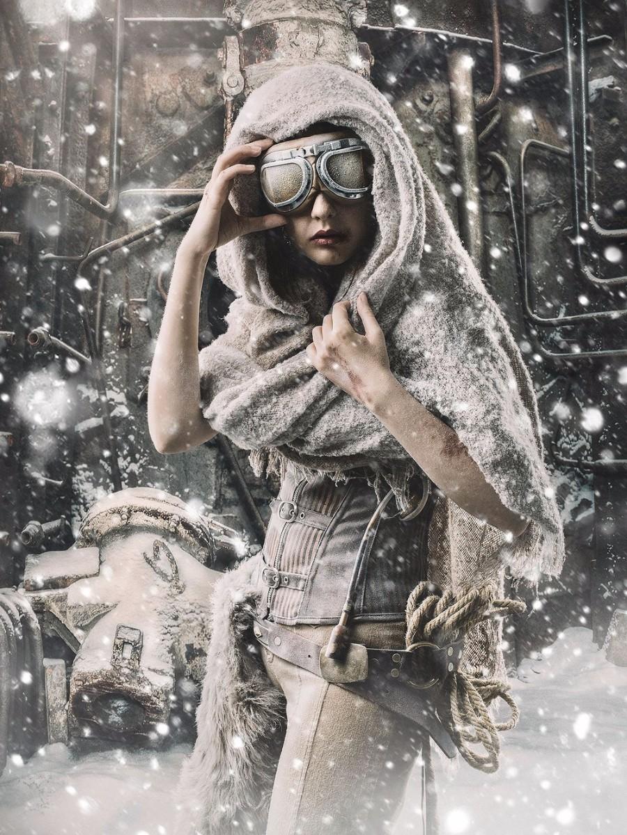 В снегах