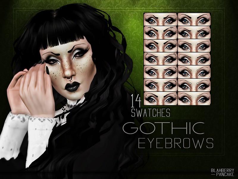 Gothic Eyebrows от Blahberry Pancake