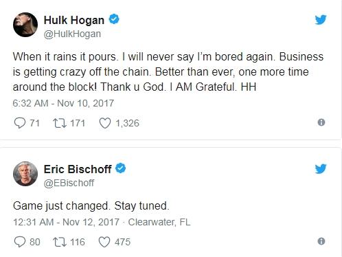 Халк Хоган и Эрик Бишофф тизерят в Twitter новый проект