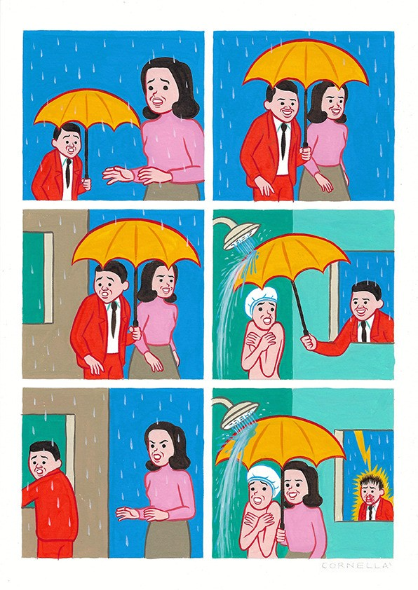 Под зонтом