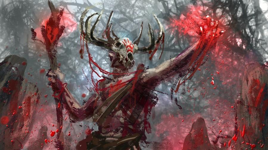 Брызги крови