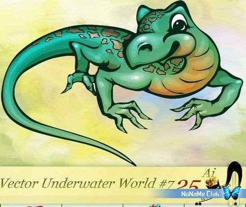 Векторный клипарт - Vector Underwater World Collection #7 [AI]