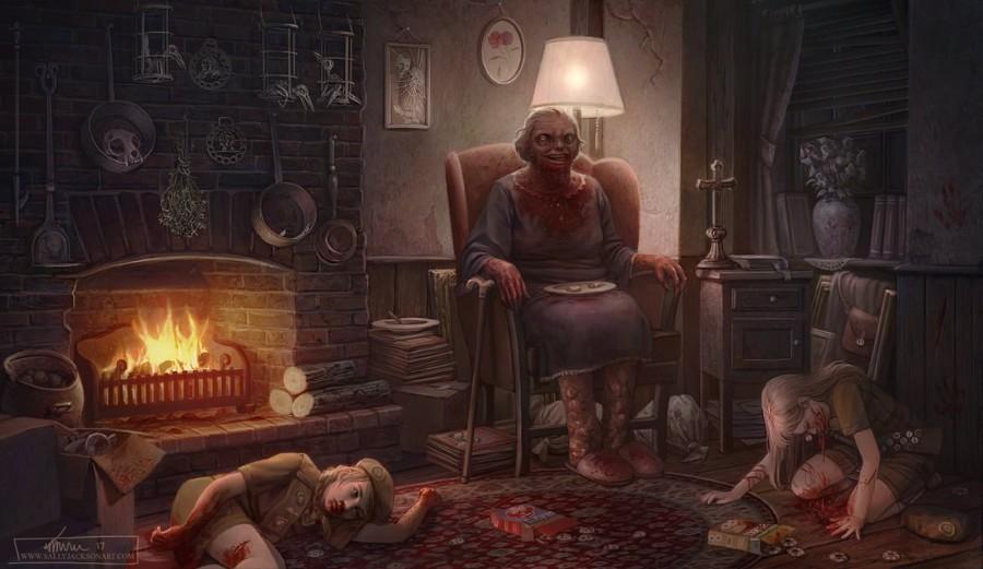 Жуткая бабуля