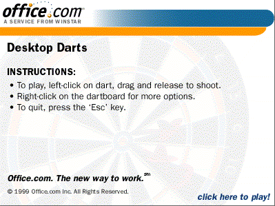 Desktop Basketball + Desktop Darts  (1999)