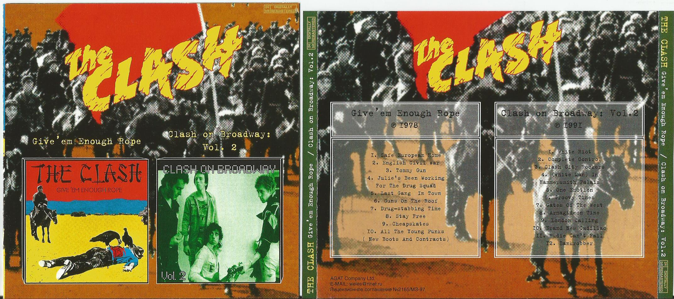 Give 'em enough rope/ clash on broadway, vol  2 (2 in 1cd) by Clash, CD  with apexmusic