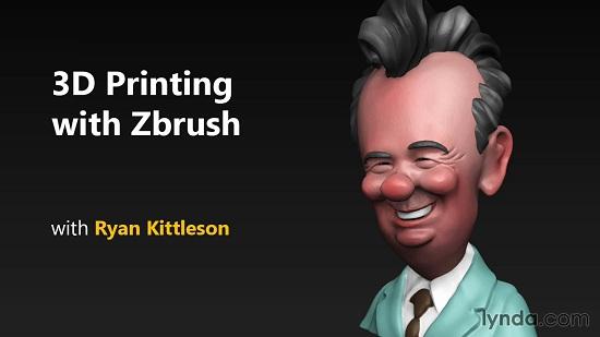 Lynda.com | 3D Printing with ZBrush (2014) PCRec [H.264/720p-LQ] [RU/EN]