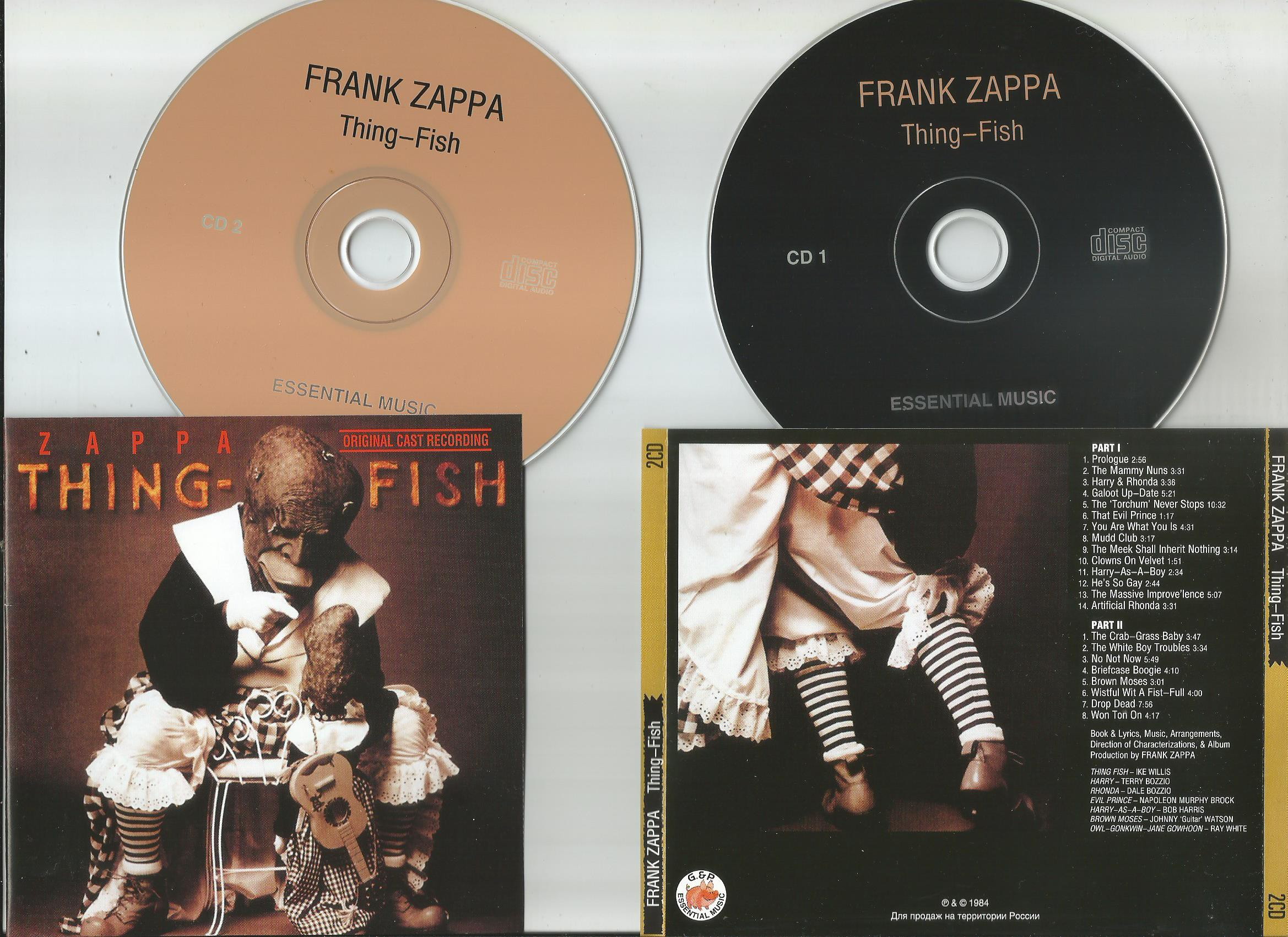 Frank Zappa Thing Fish Records Lps Vinyl And Cds